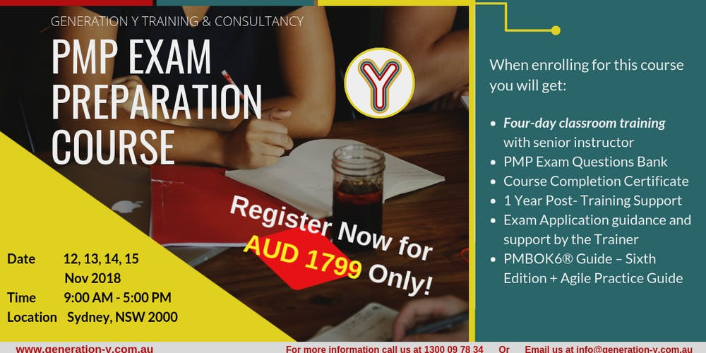 Pmp Exam Preparation Course Classroom Weekdays Batch