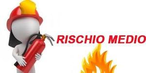 Corso antincendio rischio medio (8 ore)  dicembre 2018