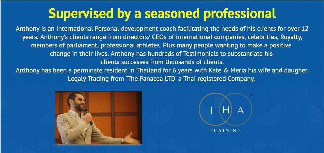 Hypnotherapy Certification With Anthony Augustine 21 Nov 2018