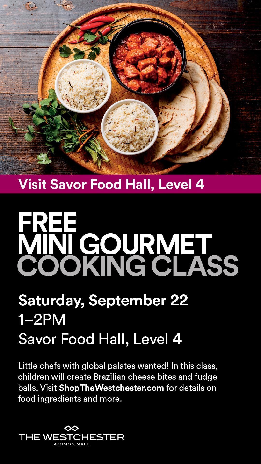 FREE Mini Gourmet Cooking Class