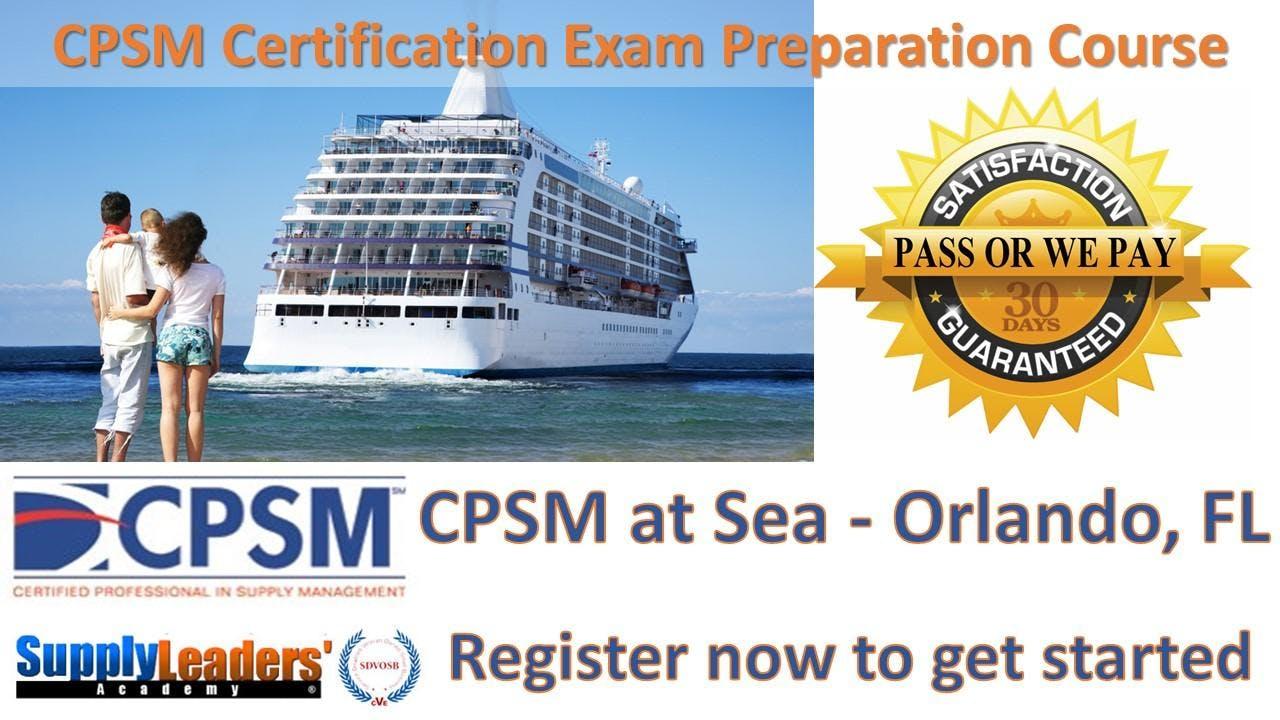 Procurement Certification Training Cpsm At Sea Orlando Florida