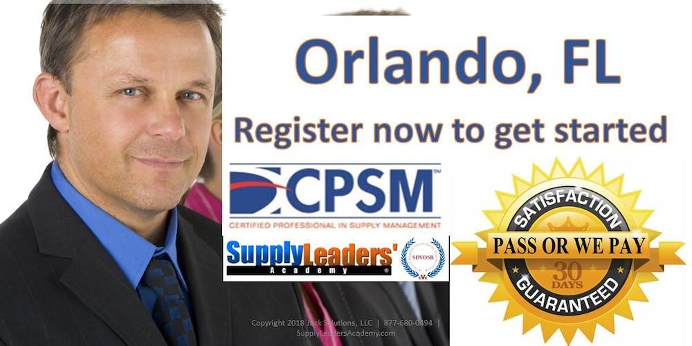Procurement Certification Training Cpsm Boot Camp Orlando
