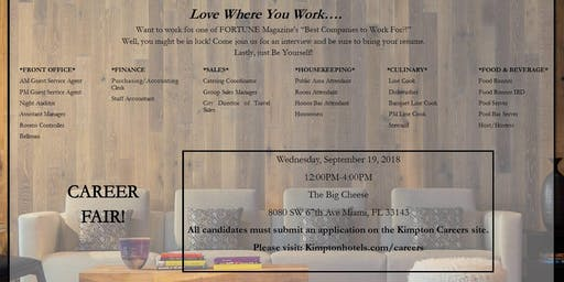 Kimpton Hotels And Restaurants Career Fair