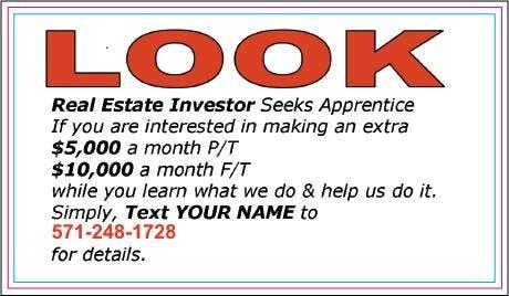 Real Estate Investor Seeks Talent!