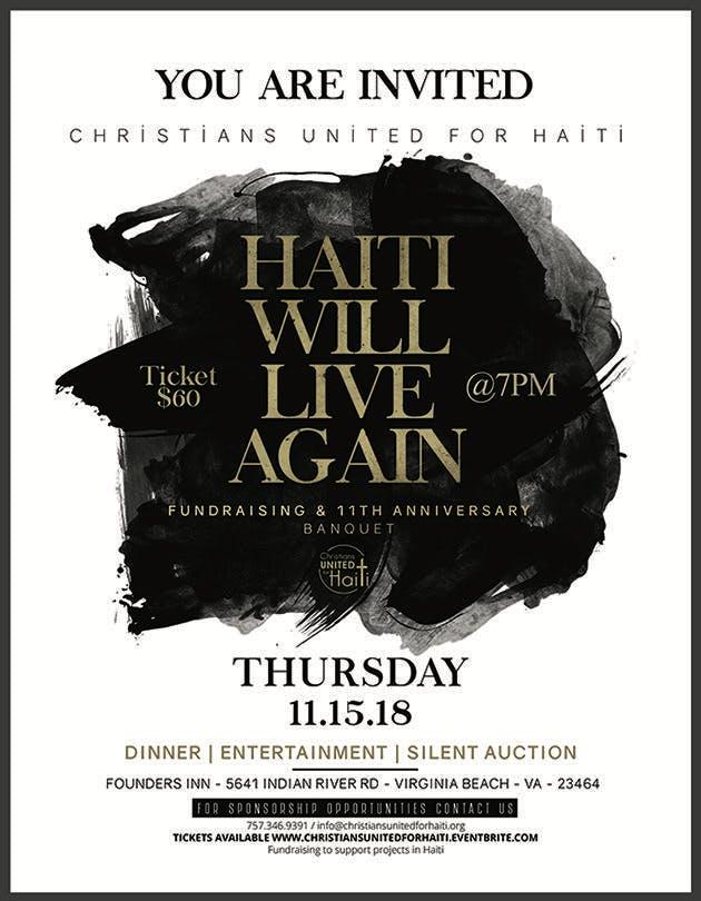 Christians United for Haiti - Fundraiser & 11