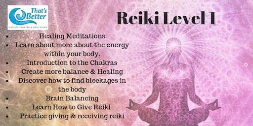 Reiki  1 Course August 3