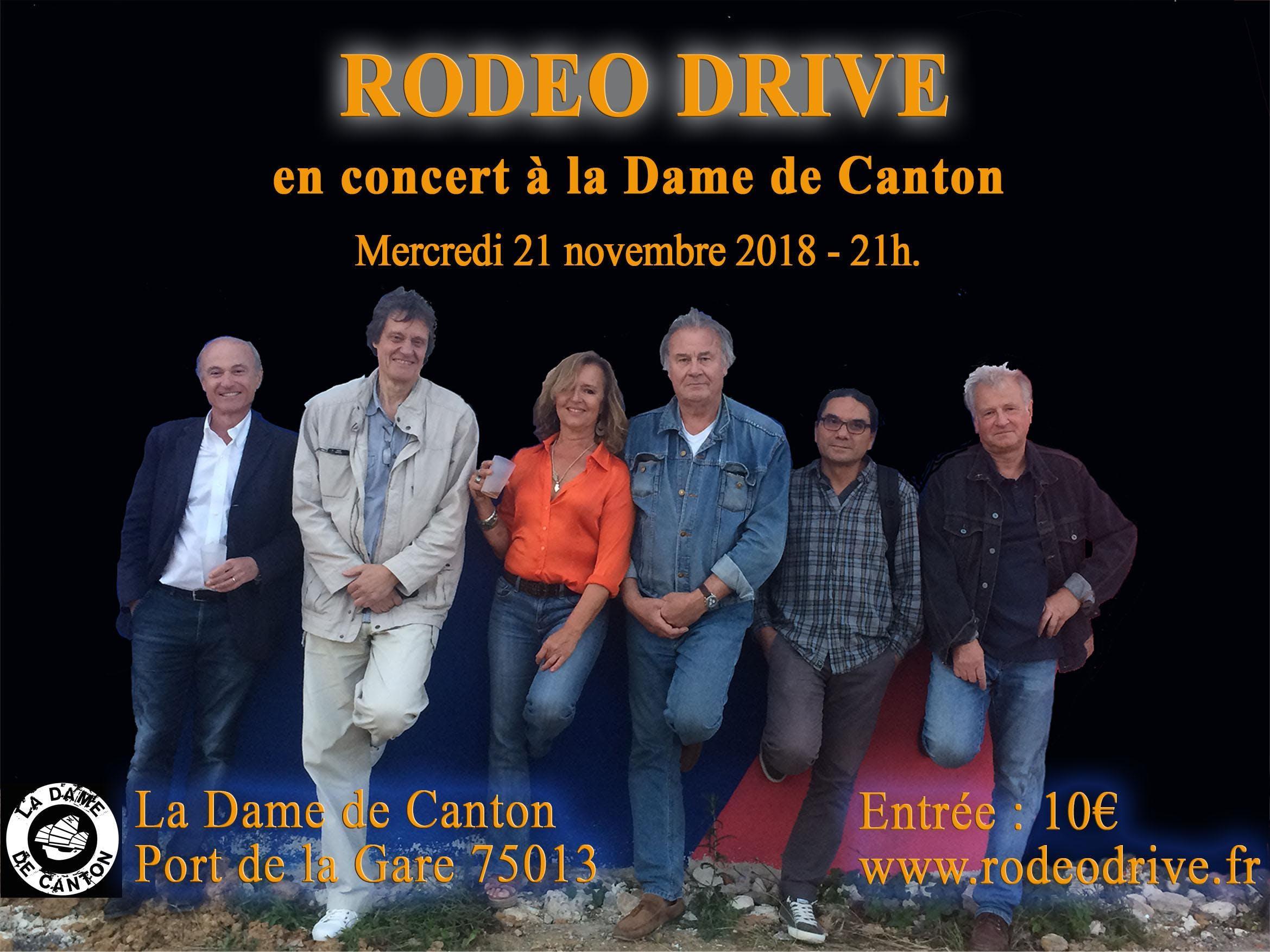 RODEO DRIVE en concert à la Dame de Canton