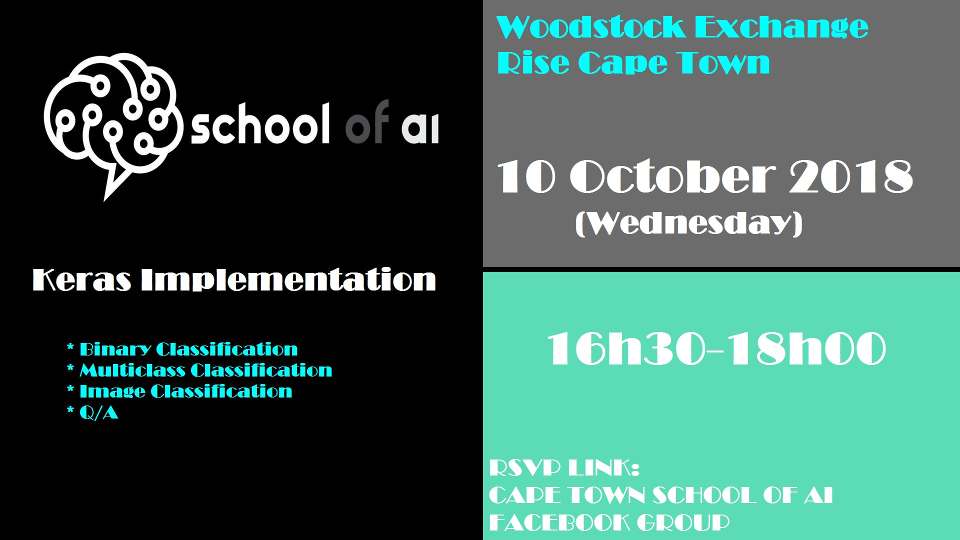 Woodstock Exchange Building : School of ai: Keras Implementation MeetUp