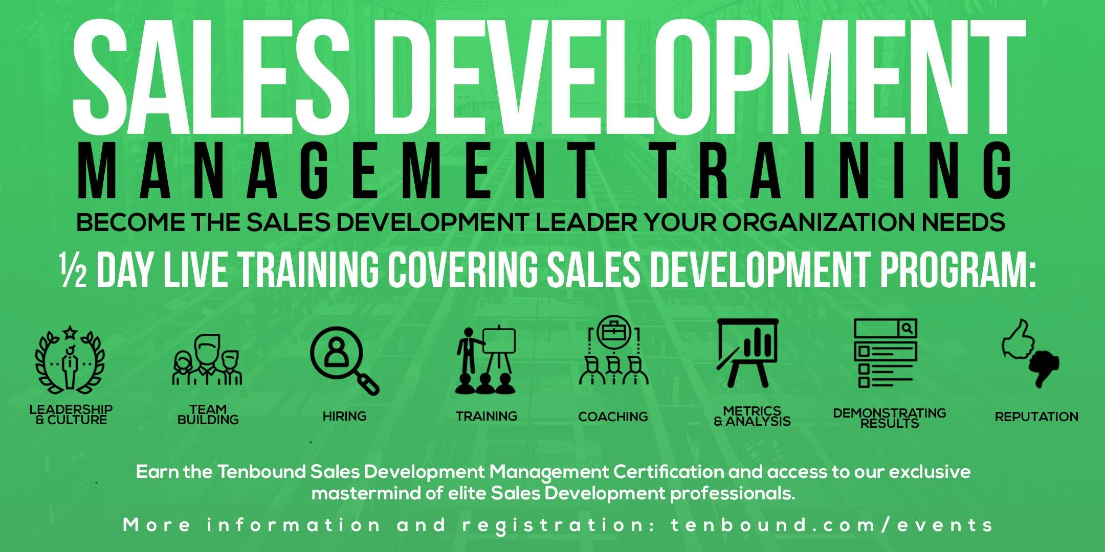 Sales Development Management Training Boston