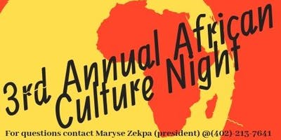 3rd Annual African Cultural Night