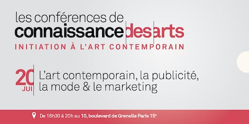 L'art contemporain, la publicité, la mode & le marketing