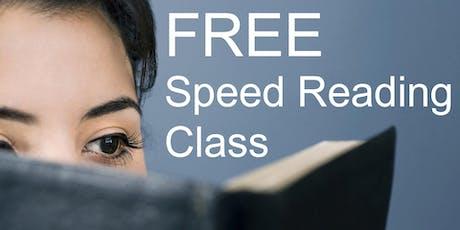 Free Speed Reading Class - San Bernardino tickets
