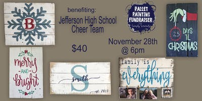 Pallet Painting Fundraiser benefiting JHS Cheer Team
