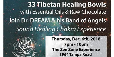 33 Tibetan Healing Bowls, Essential Oils & Raw Cacao Experience, Oldsmar at The Zen Zone