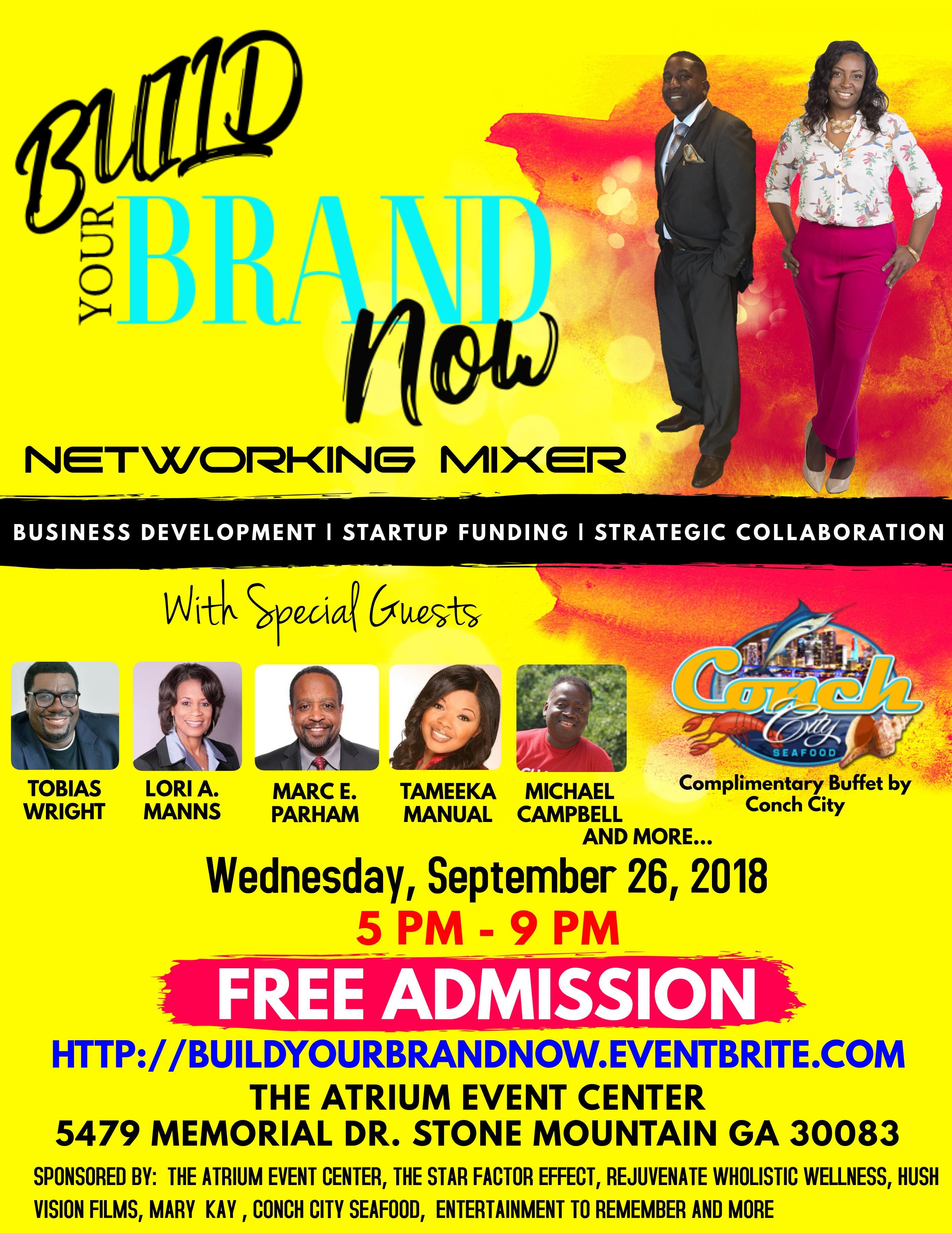 Build Your Brand Now Networking Mixer