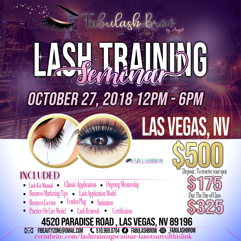 Fabulashbrow Las Vegas Eyelash Extension Classic Volume Workshop