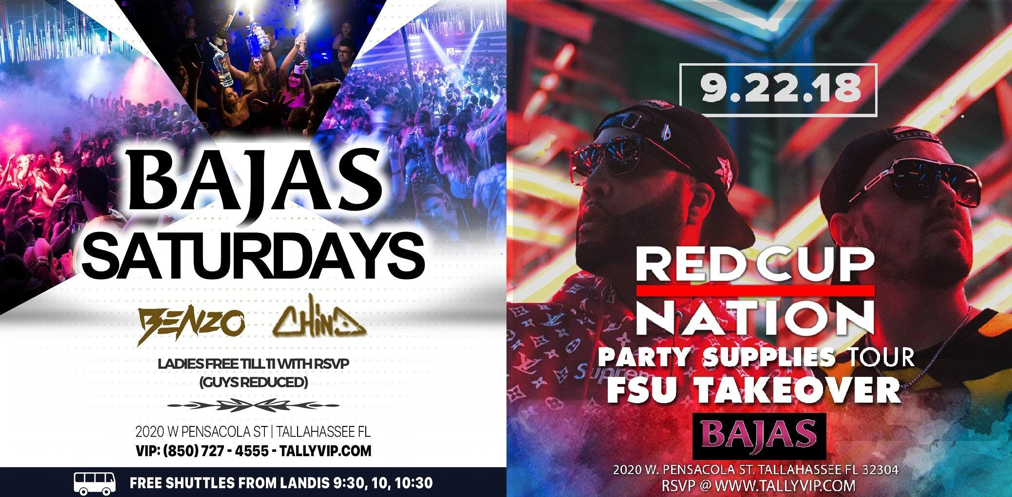 Bajas Saturday | Red Cup Nation Party Supplie