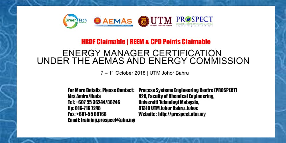 ENERGY MANAGER CERTIFICATION UNDER THE AEMAS AND ENERGY COMMISSION ...