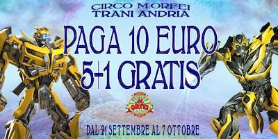 Il Circo M.Orfei a TRANI ANDRIA A 10 EURO