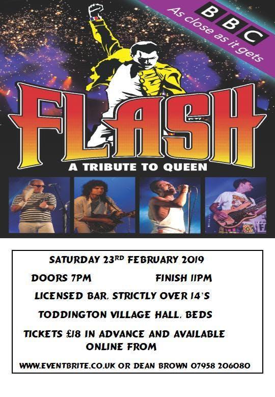 FLASH 'A Tribute to Queen' , Toddington Villa