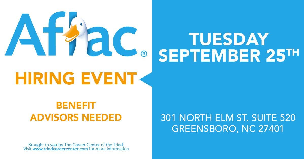 Aflac Free Hiring Event and Open House! Tuesd