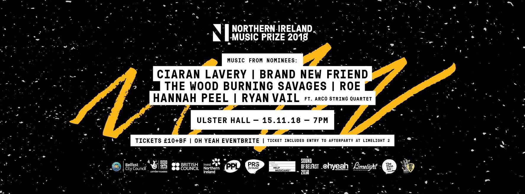 NI Music Prize 2018 - tinyurl.com/NIMPrize