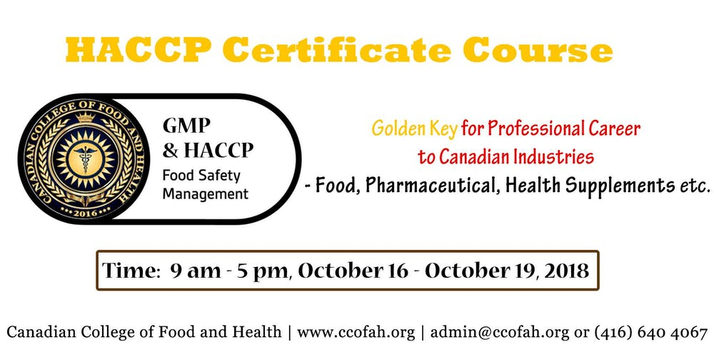 Special Edition Of Haccp Certification Course Intensive Learning