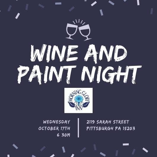 Sugar Skull Wine Glass Paint Night