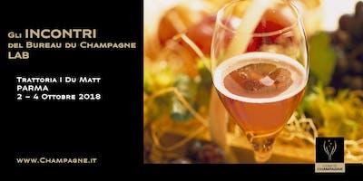 Gli incontri del Bureau du Champagne LAB, Parma