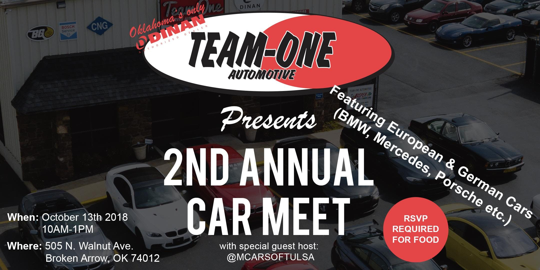 2nd Annual Team One Automotive Fall German Euro Car Meet 13 Oct 2018