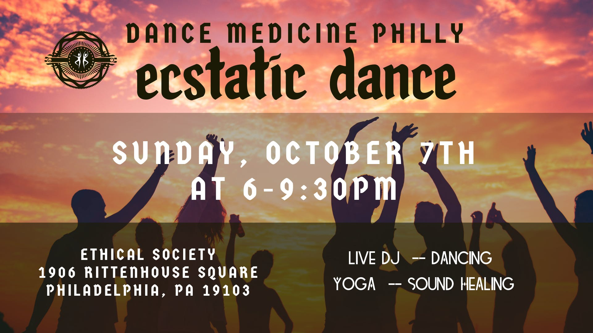 Dance Medicine Philly Presents: Ecstatic Dance October 7th - 7 OCT 2018