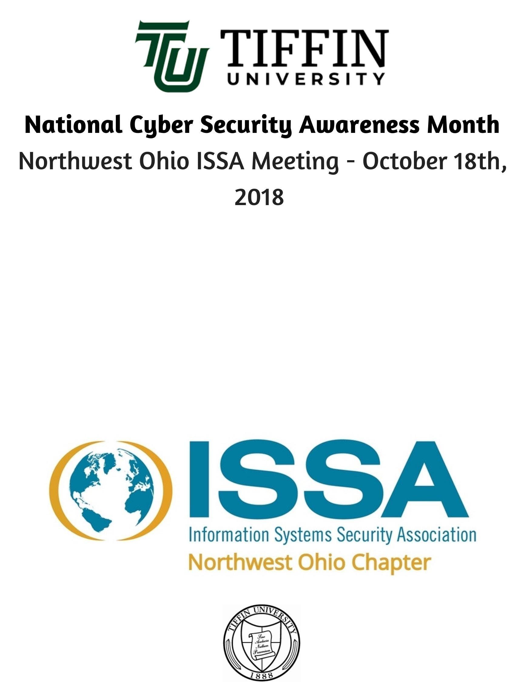 Northwest Ohio Issa Meeting October 18th 2018 18 Oct 2018