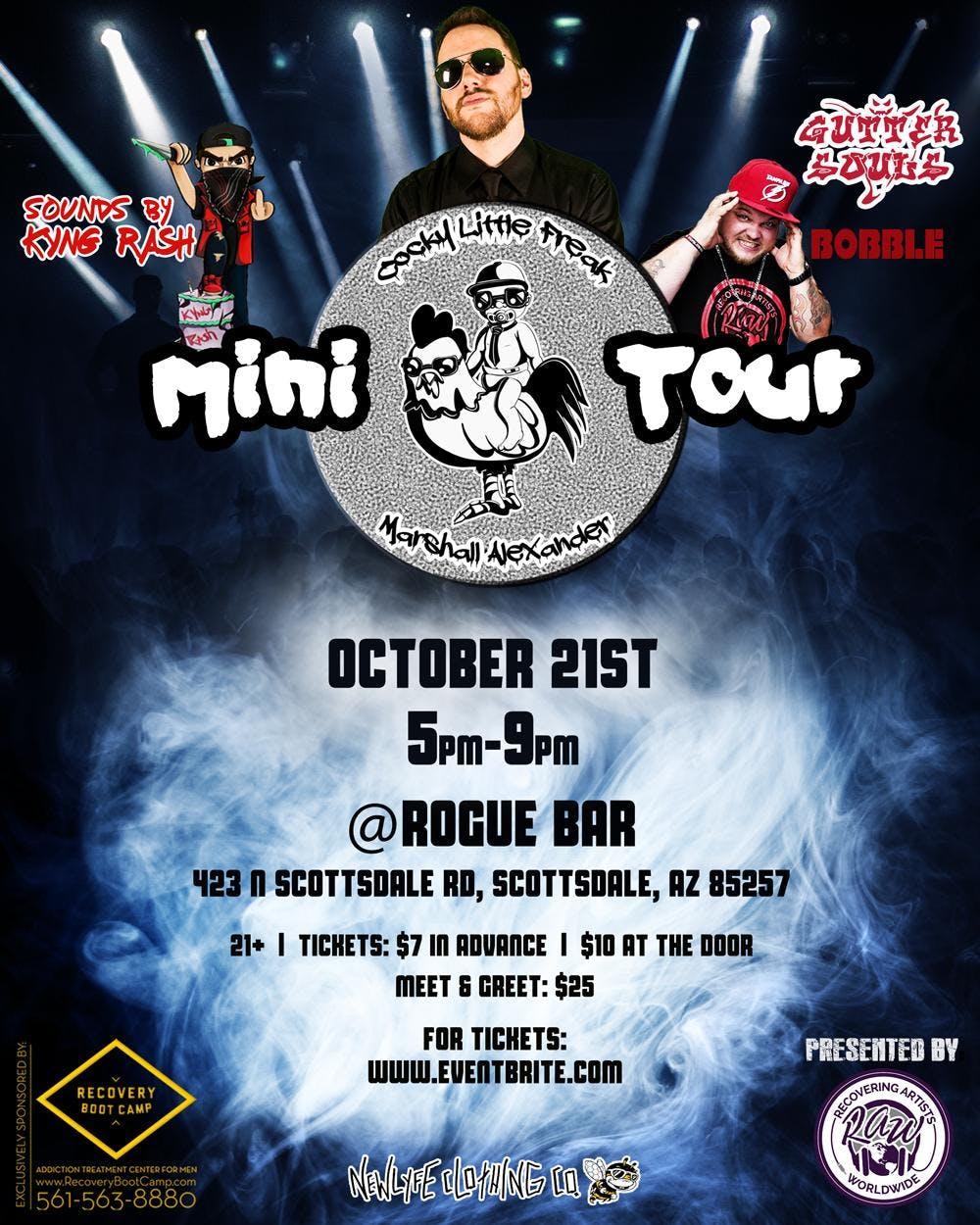Scottsdale Arizona CLF mini tour Marshall Alexander, Gutter Souls & more