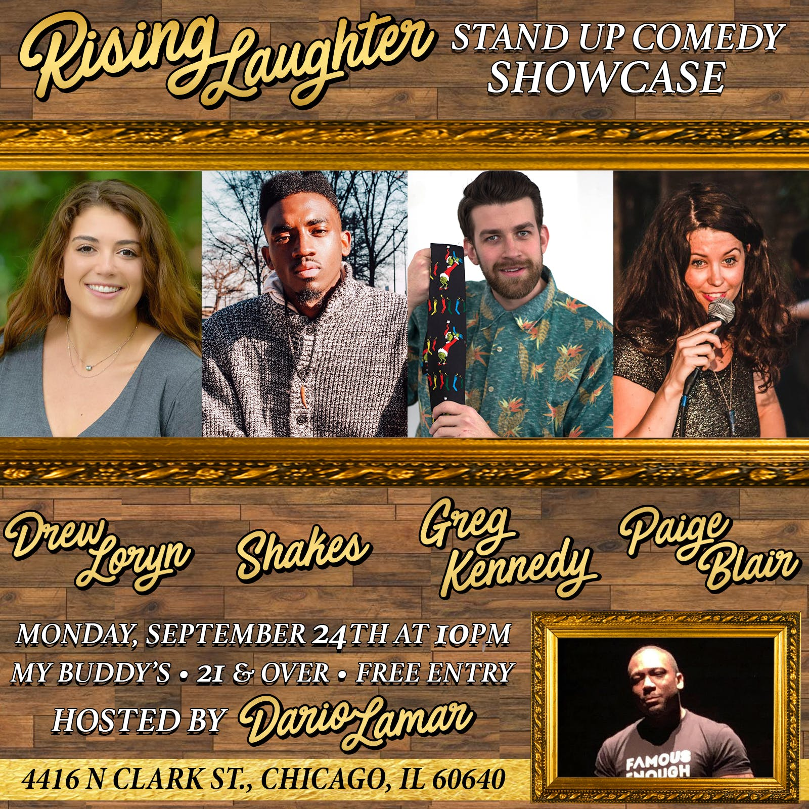 Rising Laughter Stand Up Showcase 9.24