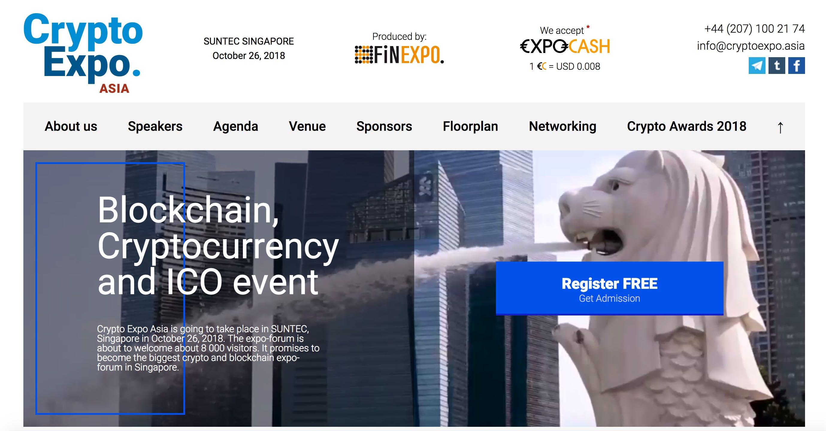 Crypto Expo Asia 2018 - Singapore (Financial