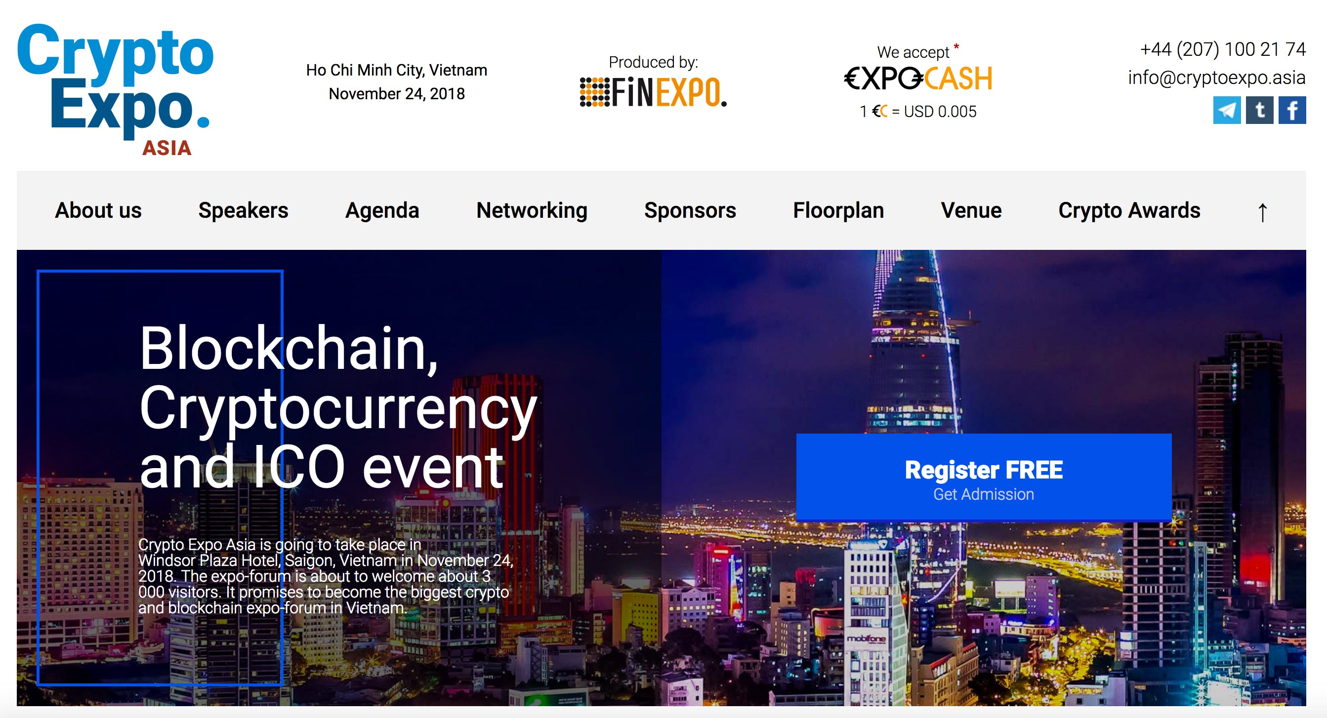Crypto Expo Asia 2018 - Vietnam (Financial Ev