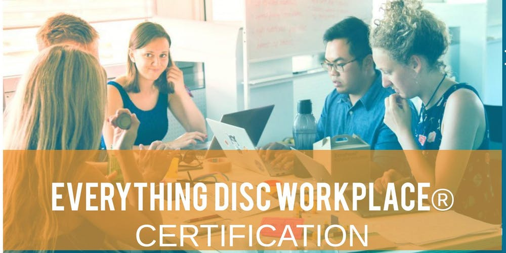 Everything Disc Workplace Facilitator Certification Tickets Thu