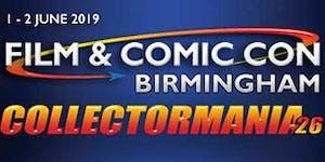 Collectormania 26: Film & Comic Con Birmingham 2019