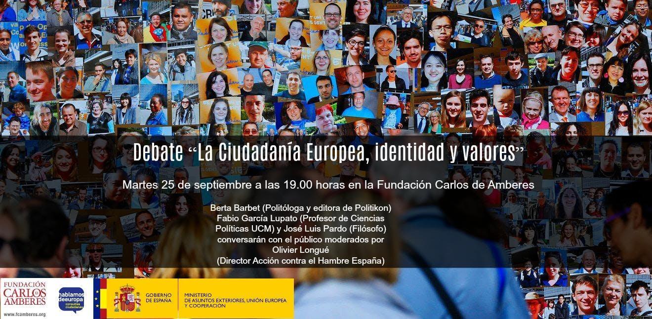 """Debate: """"La Ciudadanía Europea, identidad y v"""