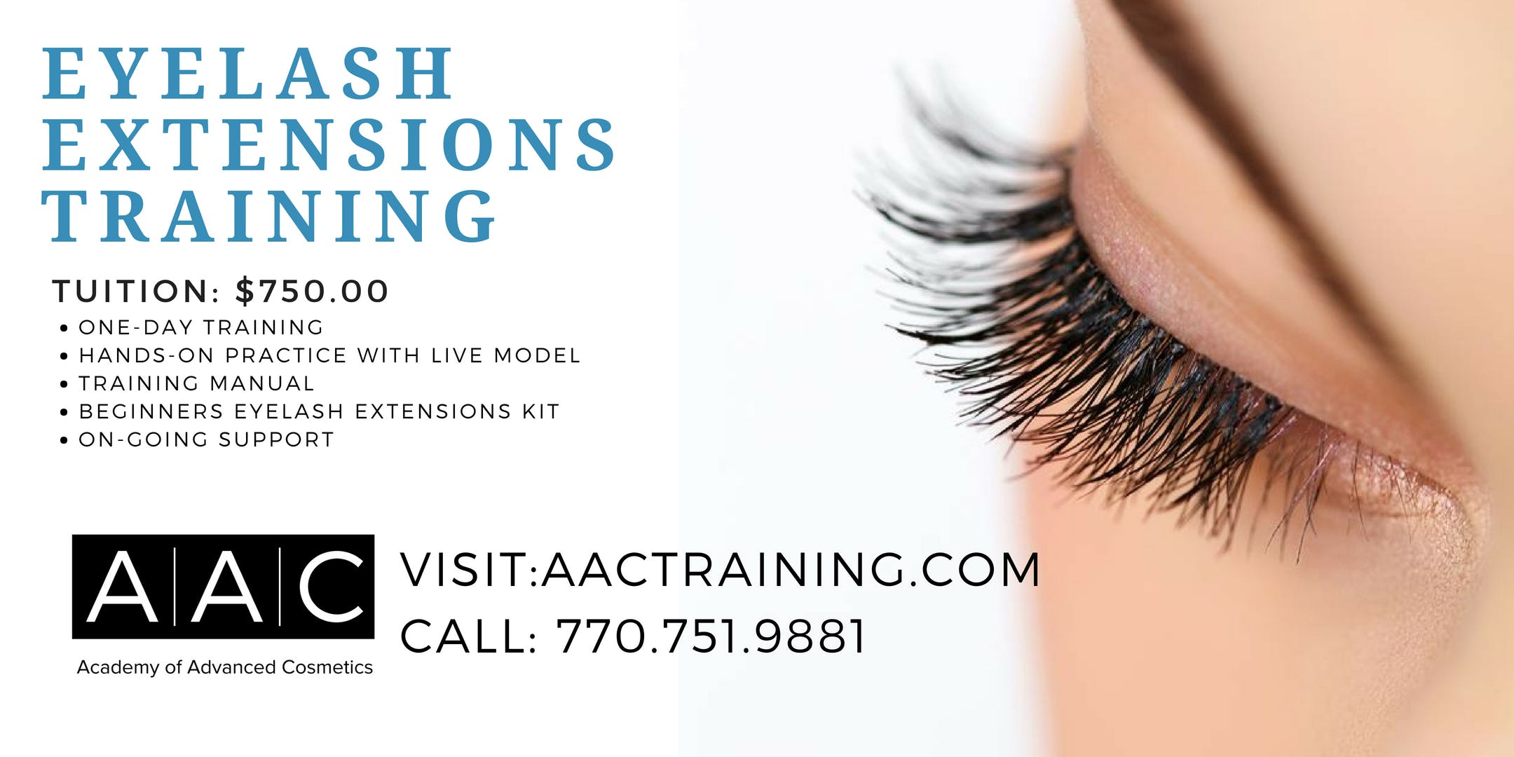 Eyelash Extensions Certification Training 6 Dec 2018