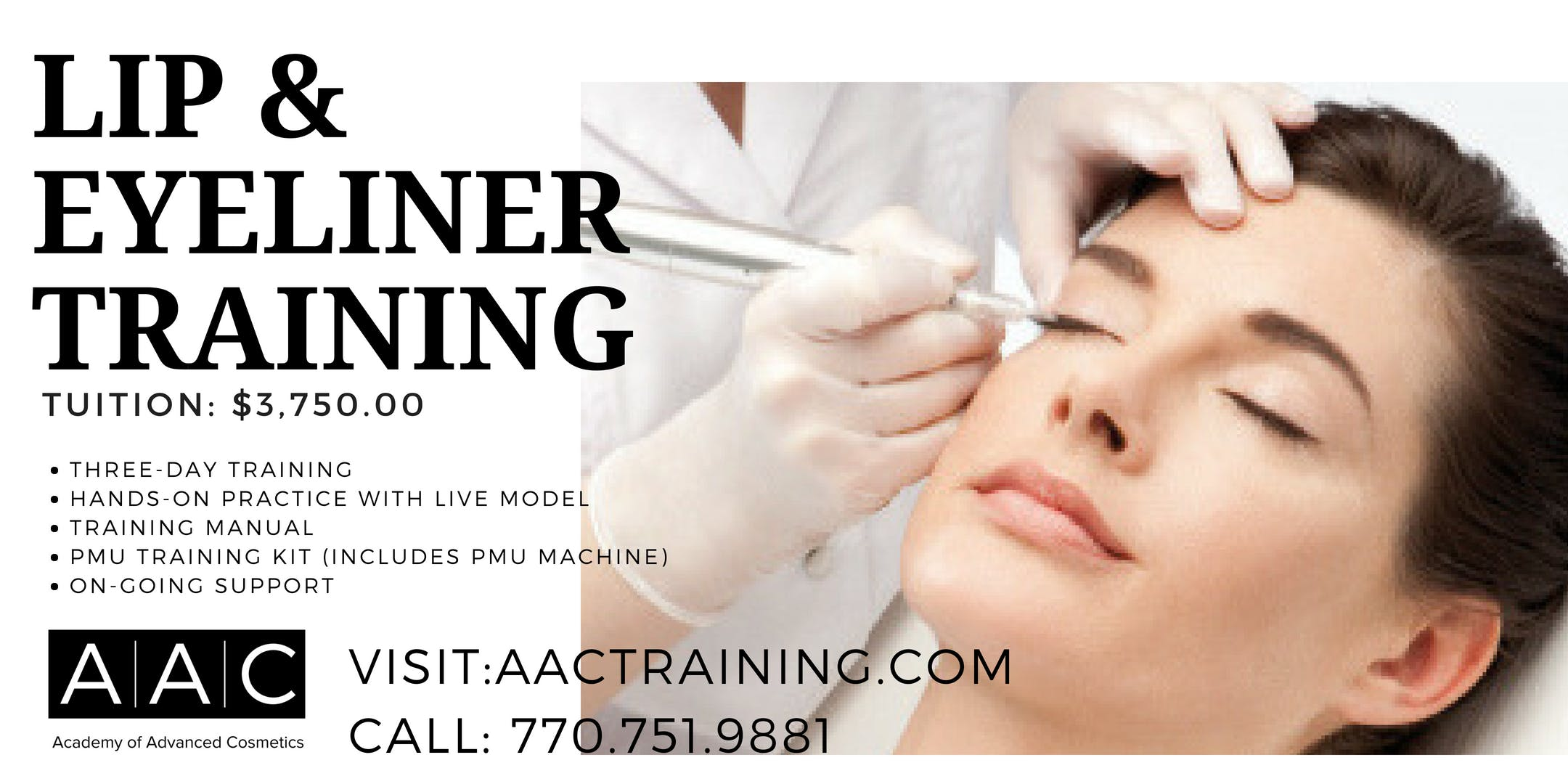 Lip Eyeliner Permanent Makeup Certification Training 16 Jan 2019