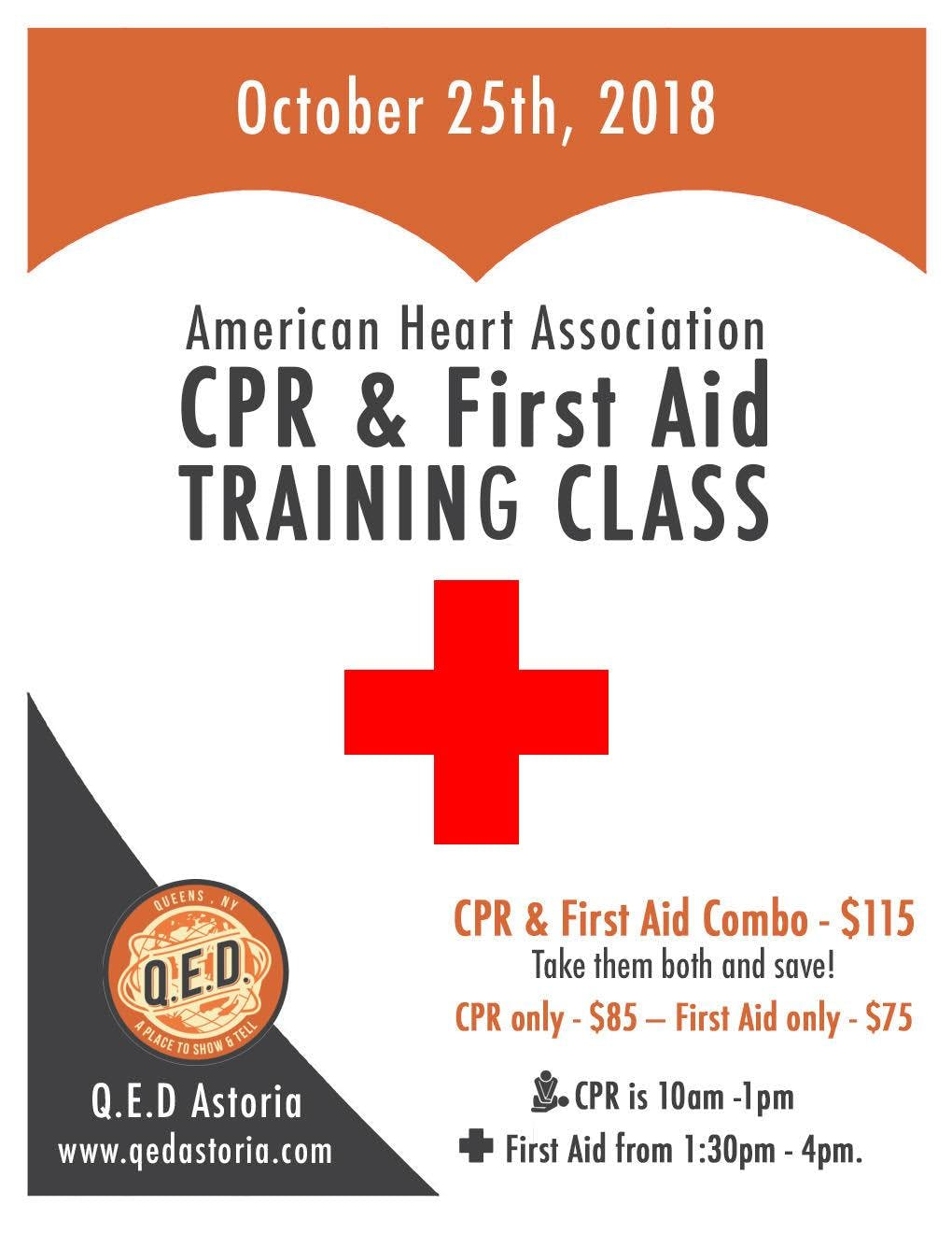 American Heart Association Cpr First Aid Training Class At Qed