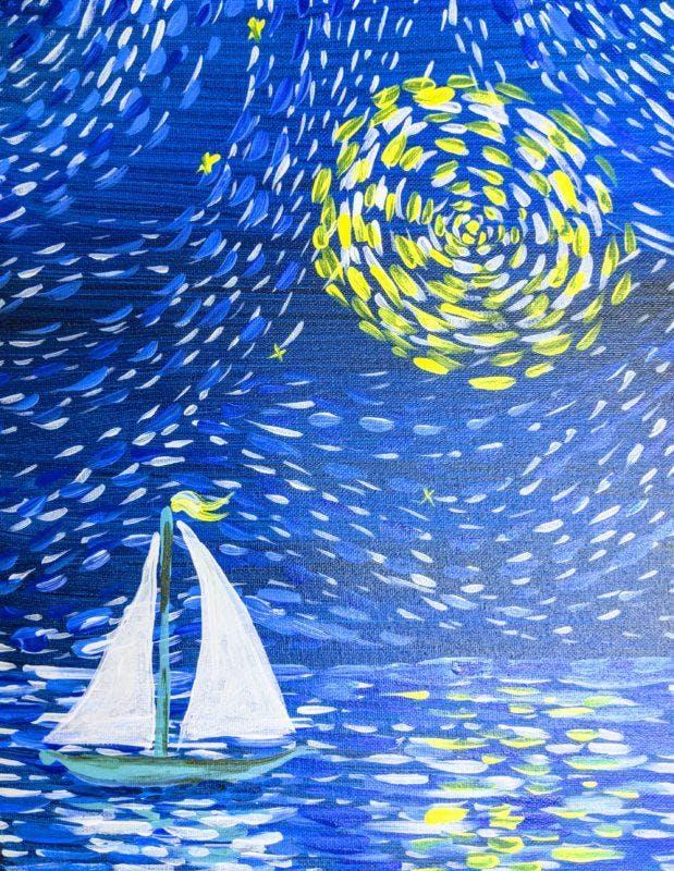 DEGALLERY : Van Gogh  Small sailboat