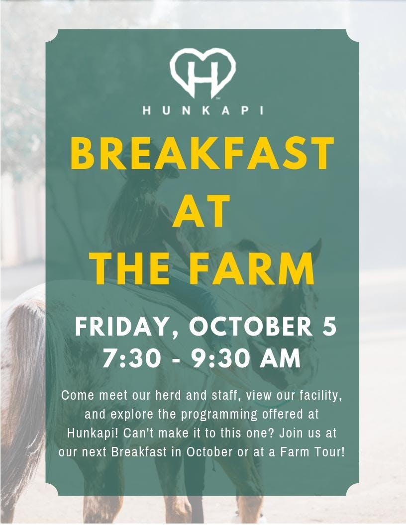 October Breakfast at the Farm!