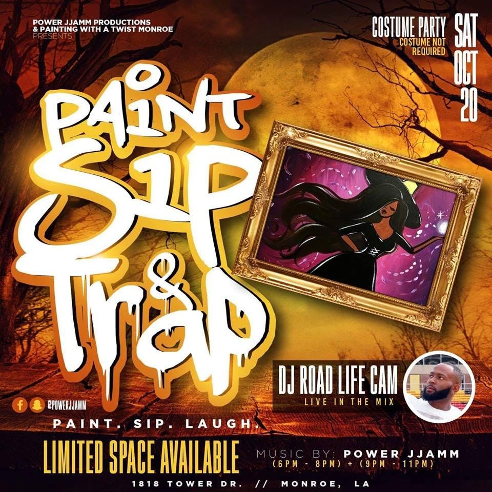 Paint Sip & Trap (Costume Party)