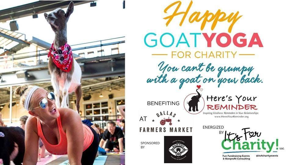 Happy Goat Yoga For Charity Dallas Farmers Market 7 Oct 2018