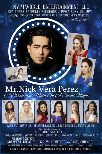 mr nick vera perez in a christmas wish on a silent night - Christmas Shows In Chicago