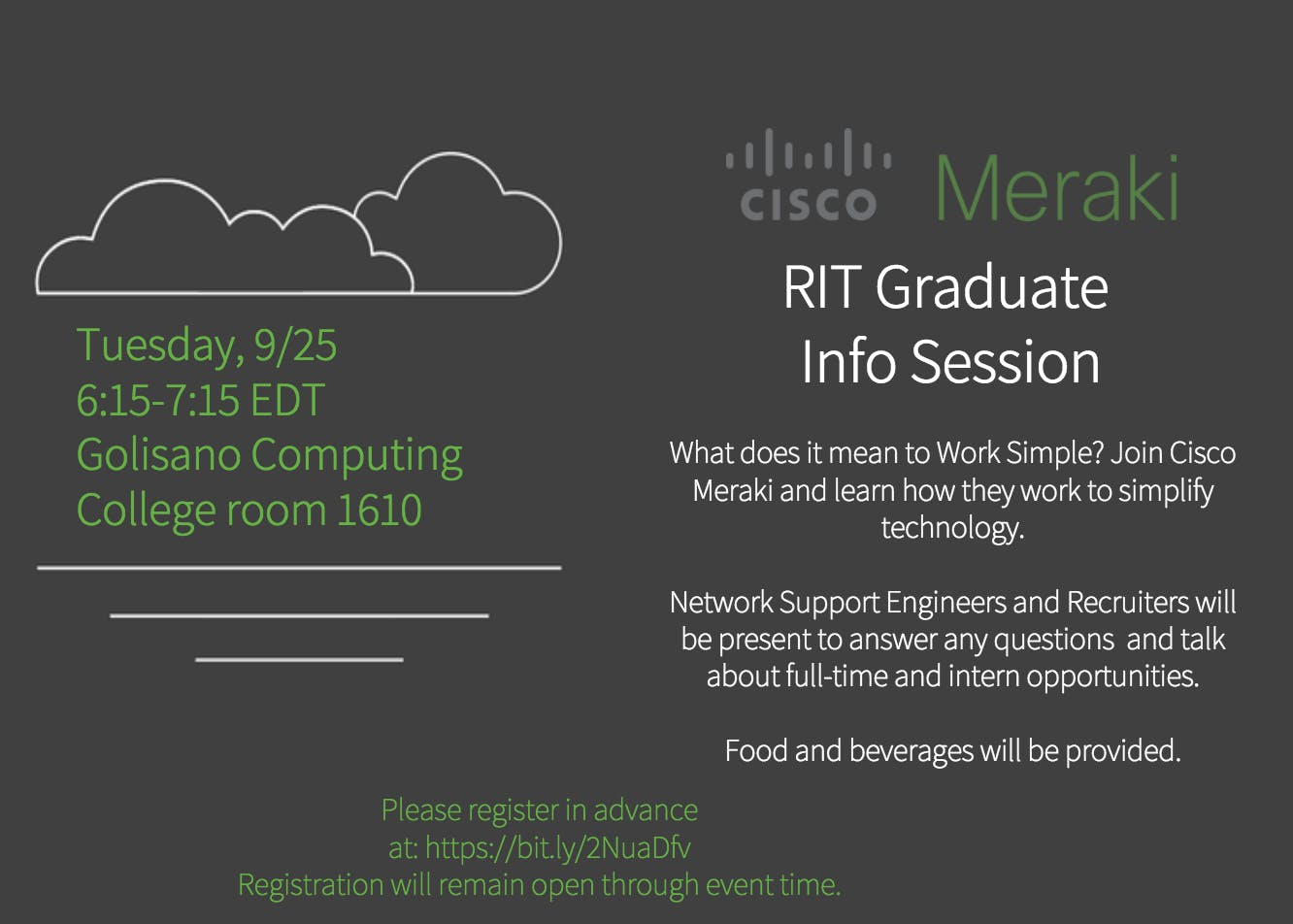 Cisco Meraki RIT Graduate Info Session