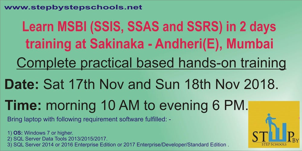 learn hands on msbi ssis ssas and ssrs in 2 days tickets sat nov 17 2018 at 1000 am eventbrite