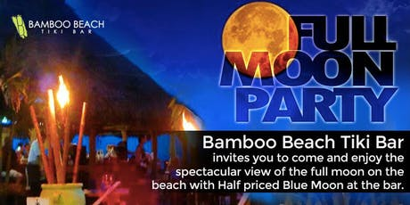 Monthly Full Moon Party on the Beach tickets